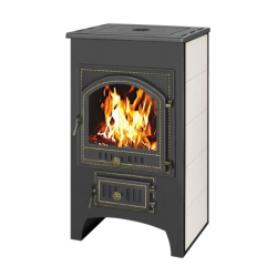 Печь-Камин ВЕЗУВИЙ ПК-01 (205) с плитой и т/о беж. 12 кВт