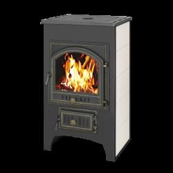 Печь-Камин ВЕЗУВИЙ ПК-01 (205) с плитой и т/о красн. 12 кВт