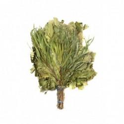 Веник СМЕШАННЫЙ в индивидуальной упаковке (дуб, липа, береза, зверобой)