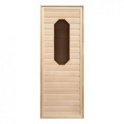 Дверь липа восьмиугол. стекло (коробка Осина) 1900х700